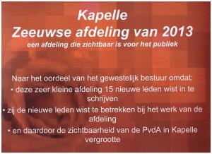 Certificaat afdeling Kapelle