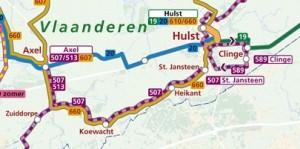 Kaart buurtbus 507